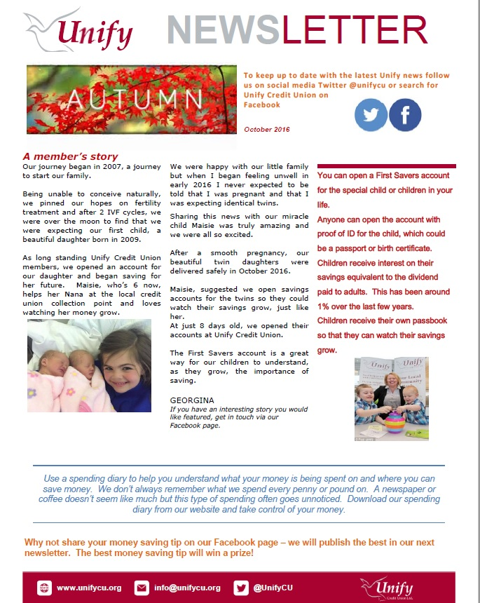 Autumn Newsletter Page 1