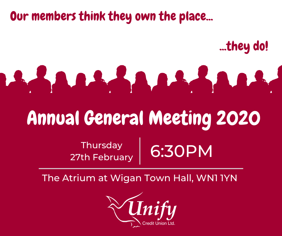 Unify AGM 2020 Notice, 27/02/2019 at 6:30PM