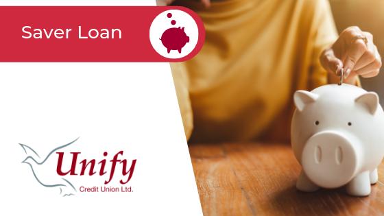 Saver Loan Banner Image - A woman placing a coin into a piggy bank