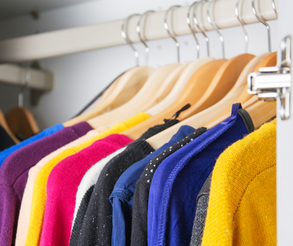 Image of clothes in a wardrobe